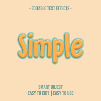 Simple text effect premium-psd