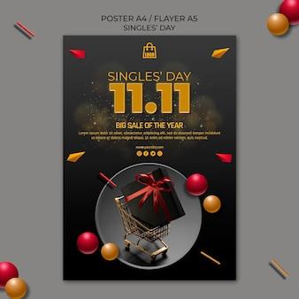 Singles day poster vorlage