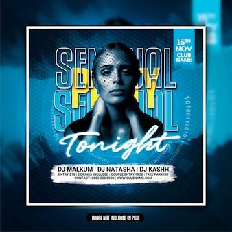 Sinnliche tonight club party flyer vorlage