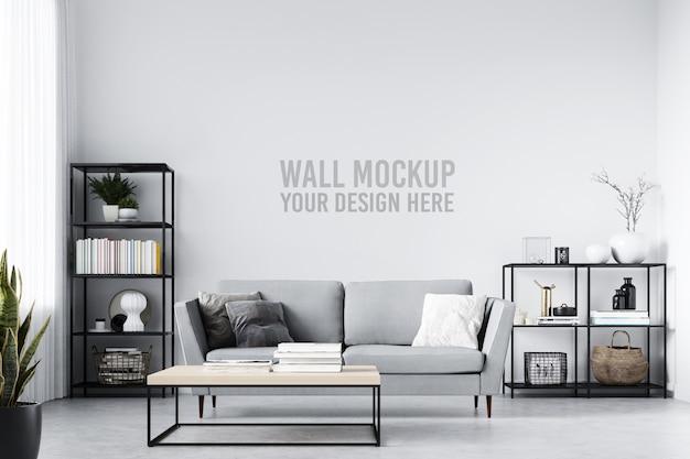 Skandinavisches wohnzimmer-tapeten-hintergrund-innenmodell