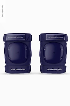 Skate elbow-pads mockup, vorderansicht