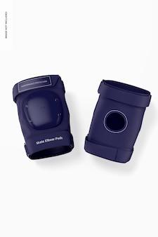 Skate elbow-pads mockup, vorne und hinten