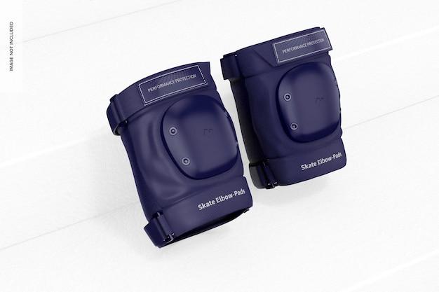 Skate ellbogen-pads mockup, angelehnt