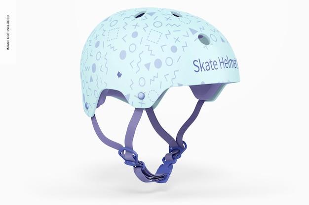 Skate helm mockup, 3/4 vorderansicht von links