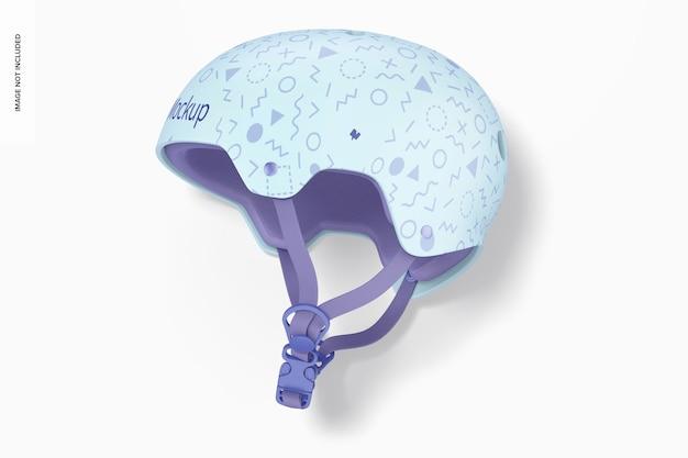 Skate-helm-modell, ansicht von oben