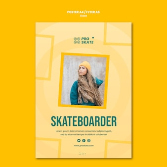 Skate konzept flyer vorlage