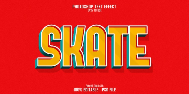 Skate sport 3d text style effekt
