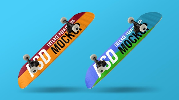 Skateboard 3d rendering modell design Premium PSD