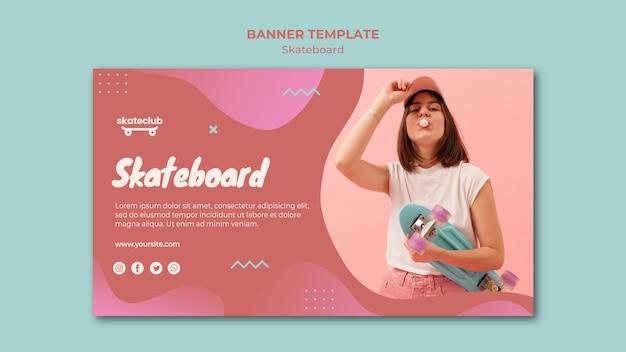 Skateboard banner thema