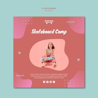 Skateboard flyer