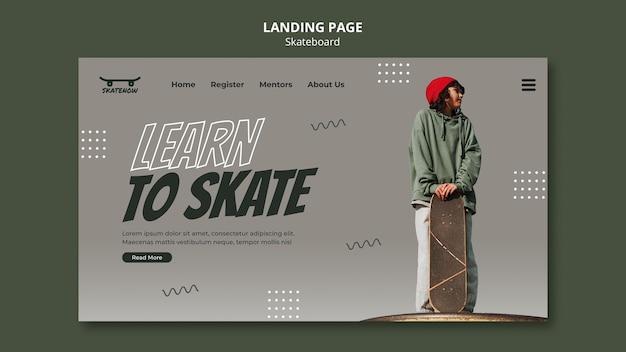 Skateboard lektion landing page Premium PSD