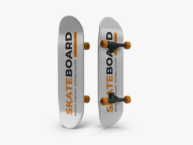 Skateboard mockup design rendering isoliert