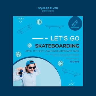 Skateboarder flyer vorlage thema