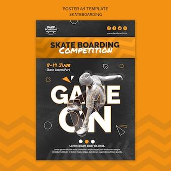 Skateboarding druckvorlage mit foto Kostenlosen PSD