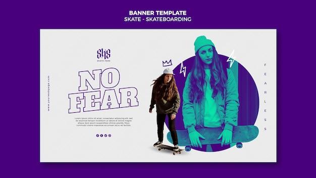 Skateboarding konzept banner vorlage