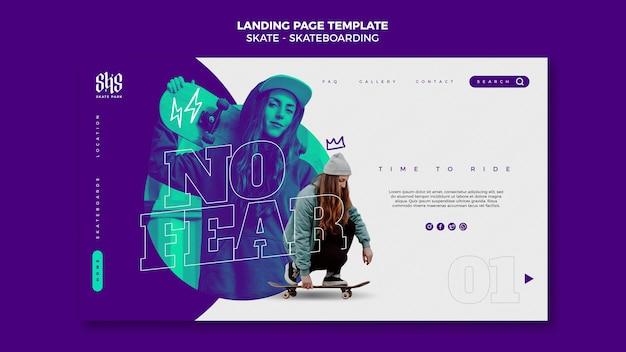 Skateboarding landing page vorlage
