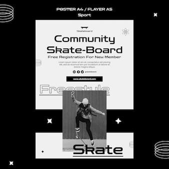 Skateboarding poster vorlage