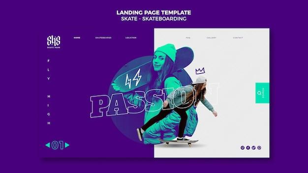 Skateboarding webvorlage
