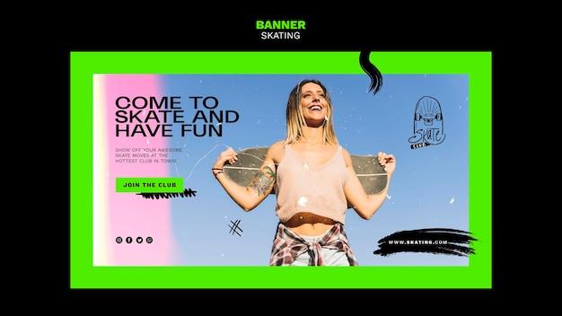 Skating ad banner vorlage