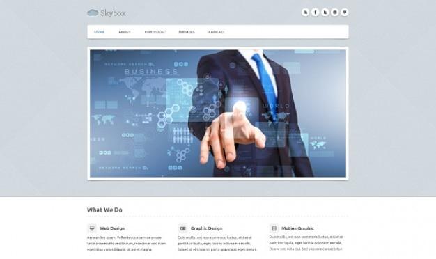 Skybox homepage psd