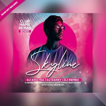 Skyline-party-flyer