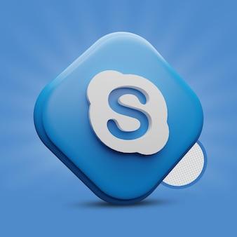 Skype-3d-symbol Premium PSD