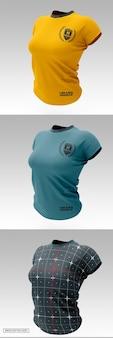 Slim-fit t-shirt mockup für damen