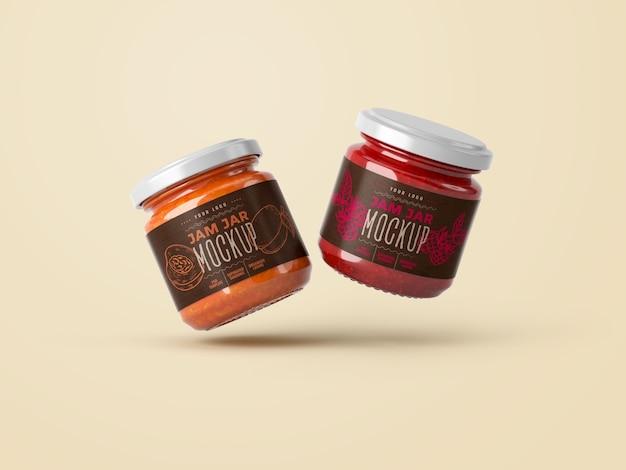 Small jar jam mockup