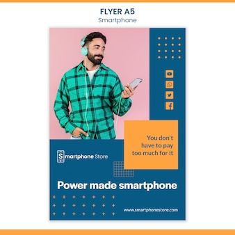 Smarphone store flyer vorlage