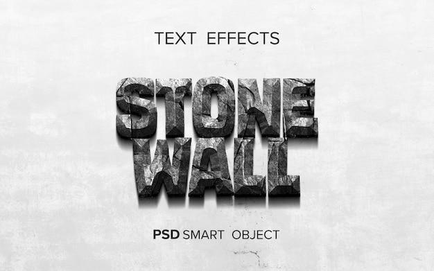 Smart-objekt mit texteffekt