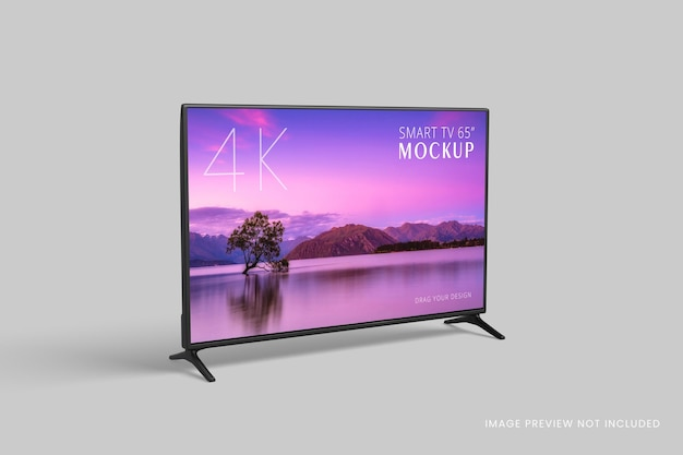 Smart-tv-modell isoliert 3d-rendering