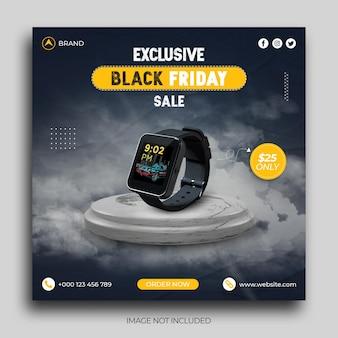 Smart watch black friday sale social media post instagram post banner vorlage