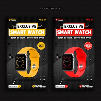 Smart watch sammlung promotion instagram geschichten vorlage