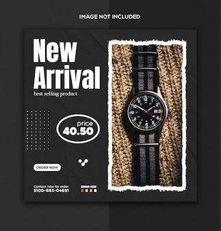 Smart watch social media- und instagram-post-vorlage