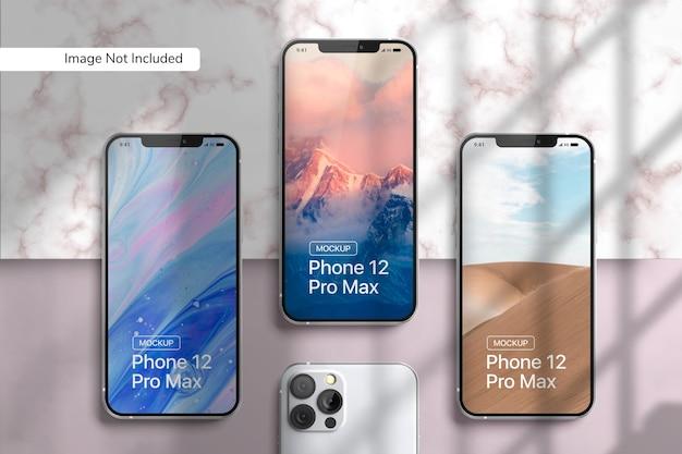Smartphone 12 pro max mockup