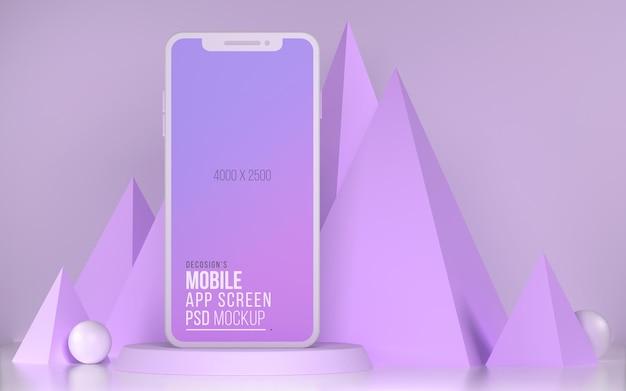 Smartphone app bildschirm 3d-modell