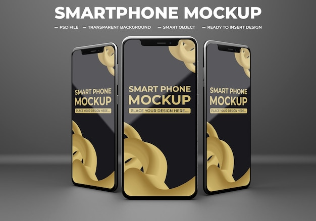 Smartphone app präsentation modell