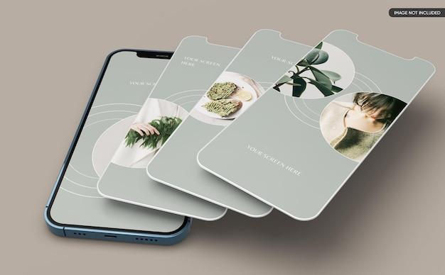 Smartphone app screen mockup