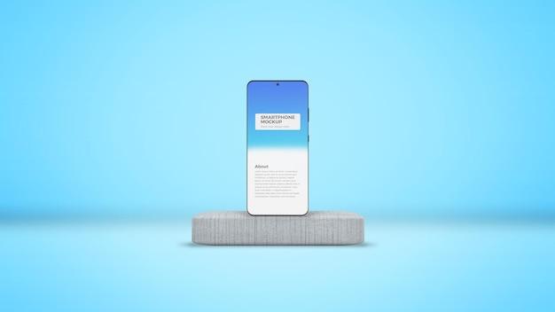 Smartphone auf beton bühne mockup