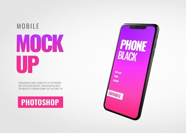 Smartphone banner modell realistisch