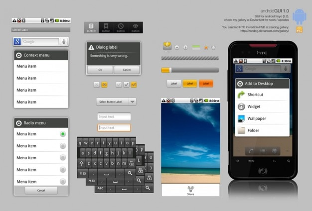 Smartphone-benutzeroberfläche psd