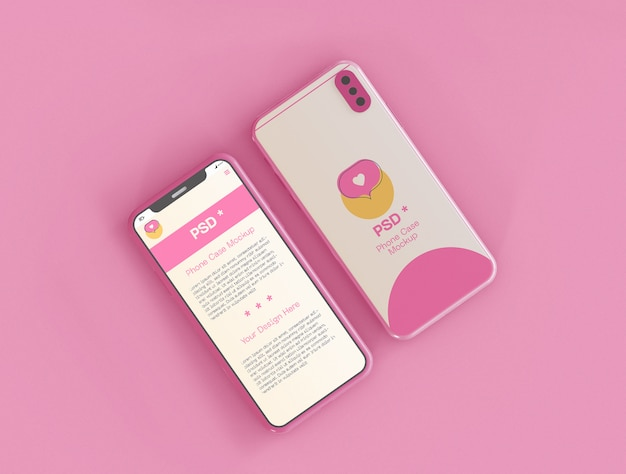 Smartphone-bildschirm und fallmodell