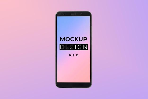 Smartphone-bildschirmmodell in 3d-rendering isoliert