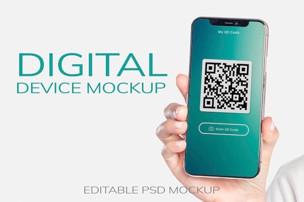 Smartphone-bildschirmmodell psd-werbeanzeige