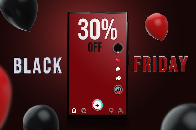 Smartphone black friday mockup design