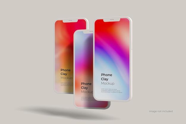 Smartphone clay mockup