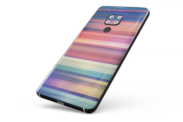 Smartphone-hautmodell isoliert