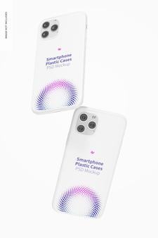Smartphone kunststoffgehäuse mockup, falling