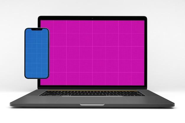 Smartphone & laptop pro mockup
