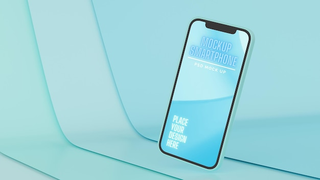 Smartphone mit mockup-bildschirm braten isoliert